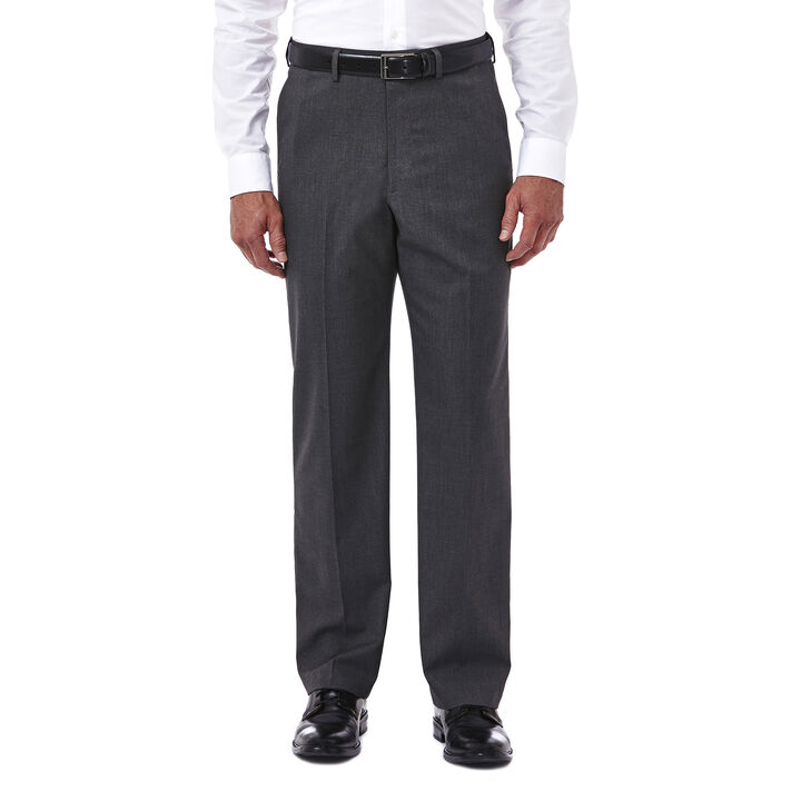 Premium Stretch Tic Weave Dress Pant, Medium Grey open image in new window