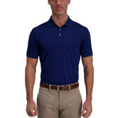 Cool 18® Pro Waffle Textured Golf Polo, Blue Depths 1