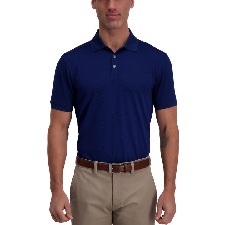 Cool 18® Pro Waffle Textured Golf Polo, Blue Depths