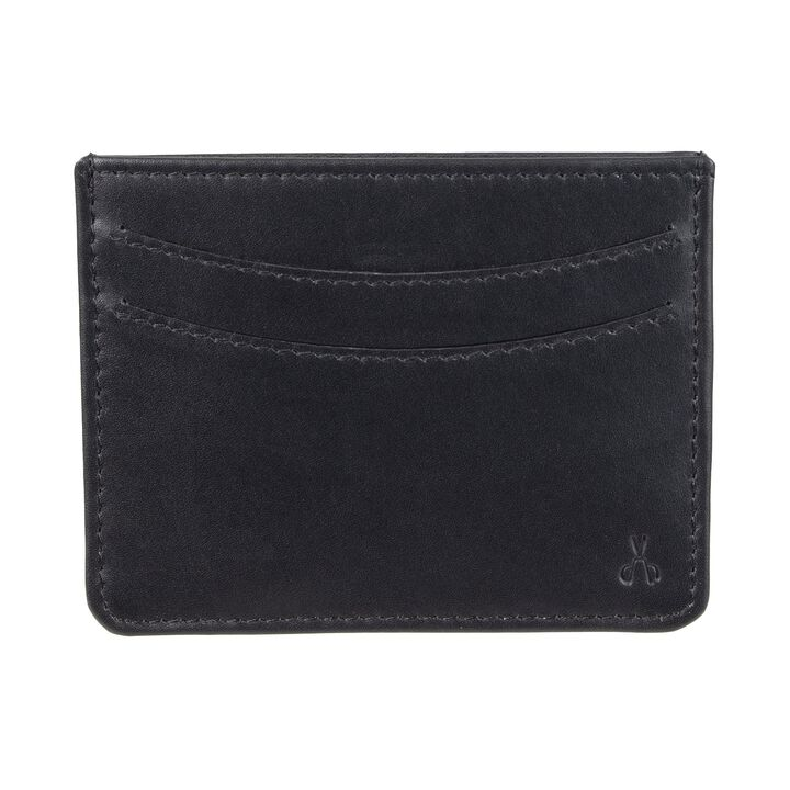 RFID Slim Getaway Card Case Wallet, Black open image in new window