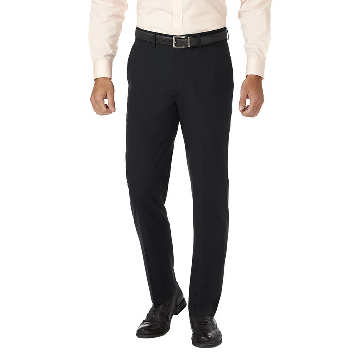 J.M. Haggar 4 Way Stretch Dress Pant, Blue Htr