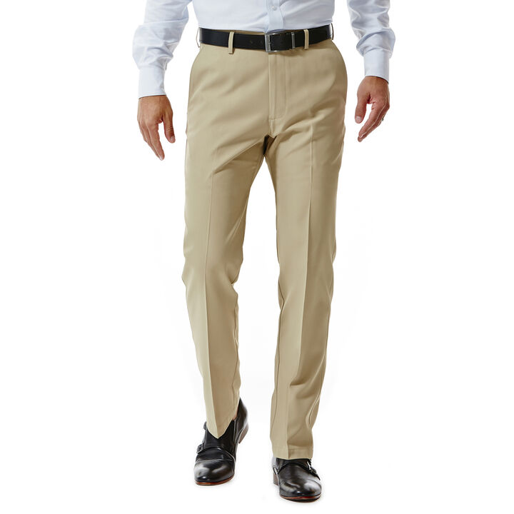 Performance Microfiber Slacks, Tan