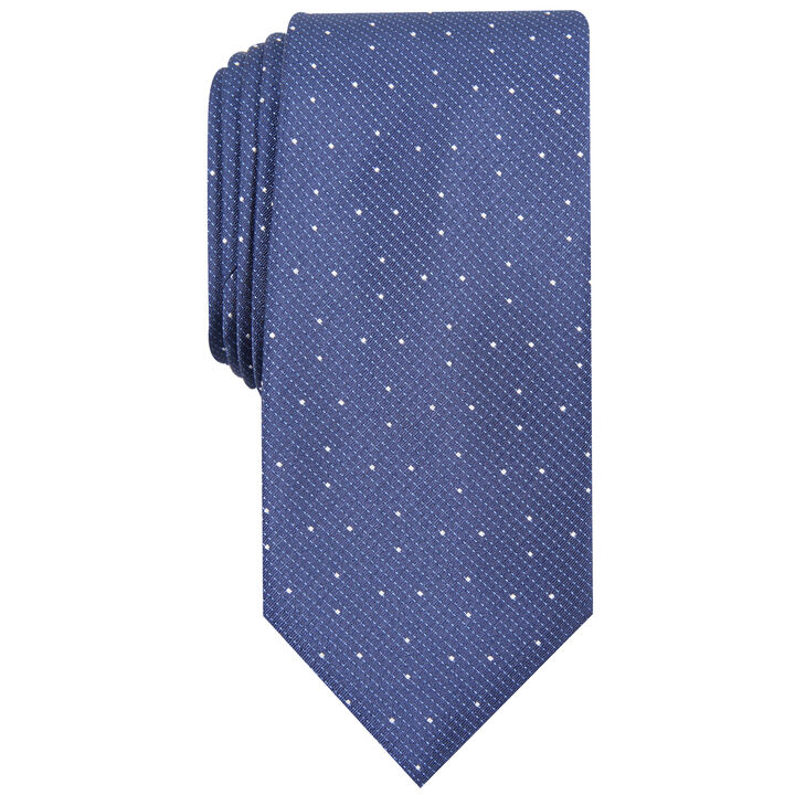Elmwood Mini Stripe Tie, Navy