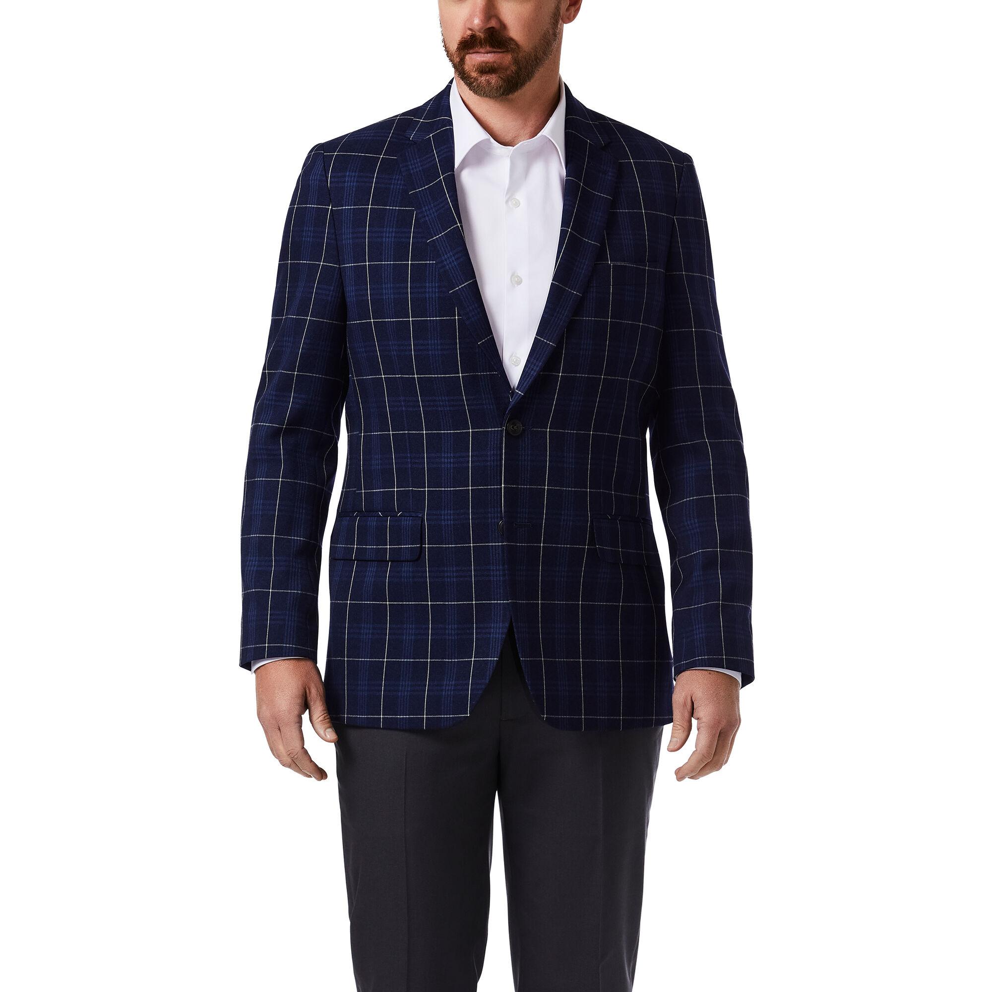Details about  /Haggar Men/'s Signature Plaid Tailored Fit Flat Fro Choose SZ//color