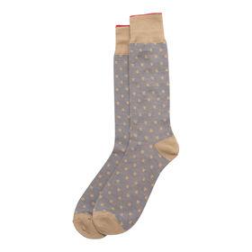 Dotted Socks, Beige