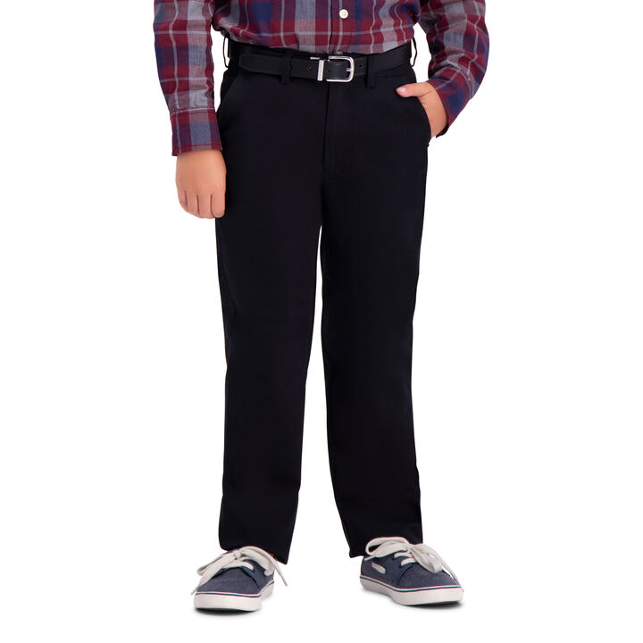 Boys Sustainable Chino Pant (8-20), Black open image in new window