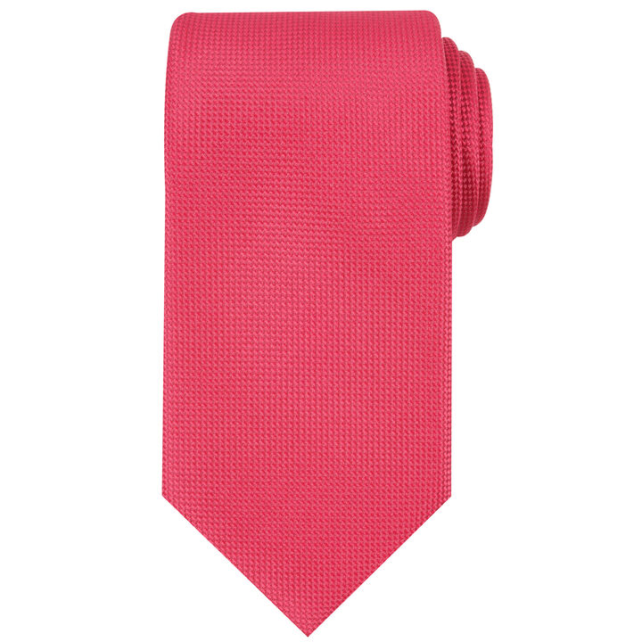 Oxford Solid Tie, Red