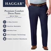 Big & Tall Premium Comfort Dress Pant, Black / Charcoal view# 4
