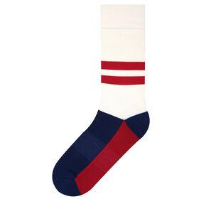 Double Stripe Sock, Ivory