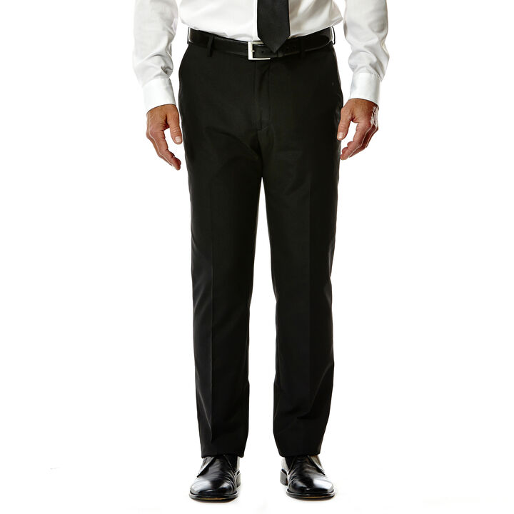 Plain Weave Suit Pant, Black open image in new window