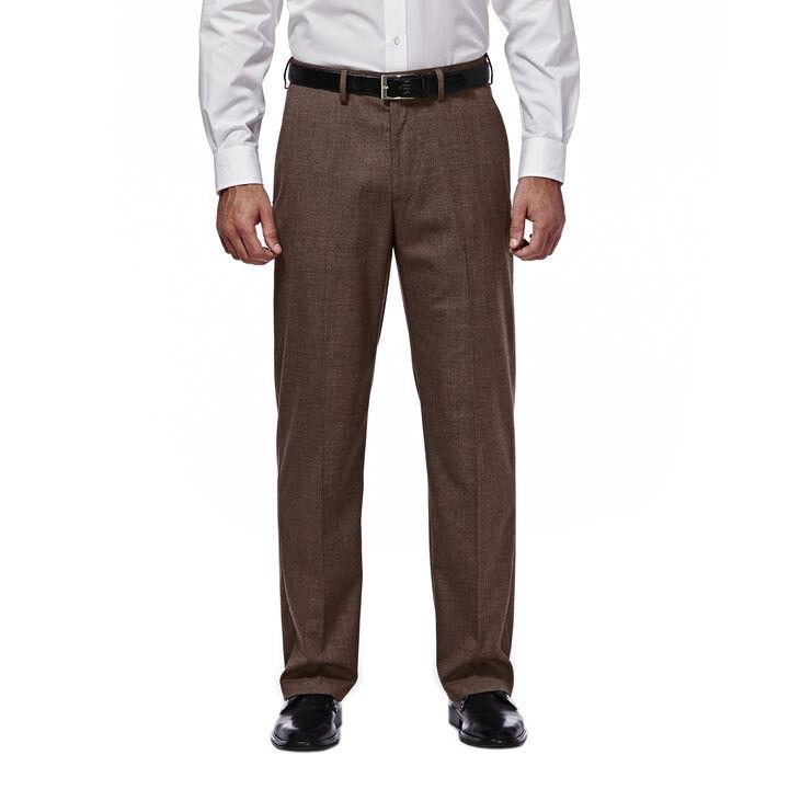 J.M. Haggar Premium Stretch Suit Pant - Flat Front, Chocolate