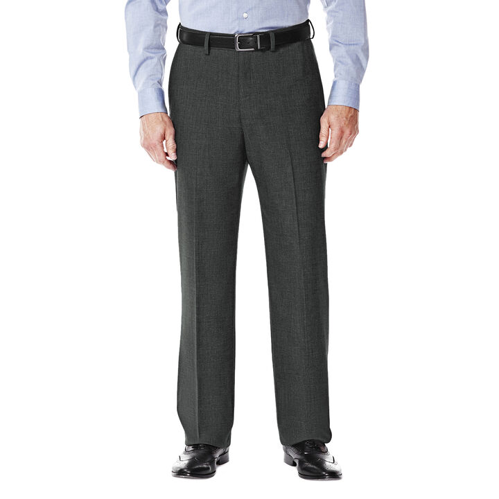 J.M. Haggar Premium Stretch Suit Pant - Flat Front, Medium Grey open image in new window