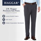 J.M. Haggar Premium Stretch Suit Pant - Pleated Front, Dark Heather Grey 4