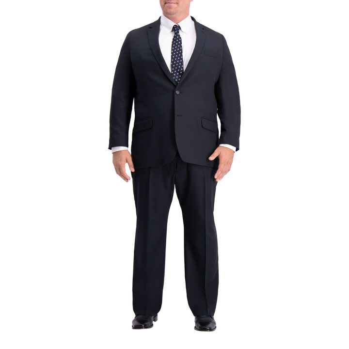 Big & Tall Active Series™ Herringbone Suit Jacket, Black, hi-res