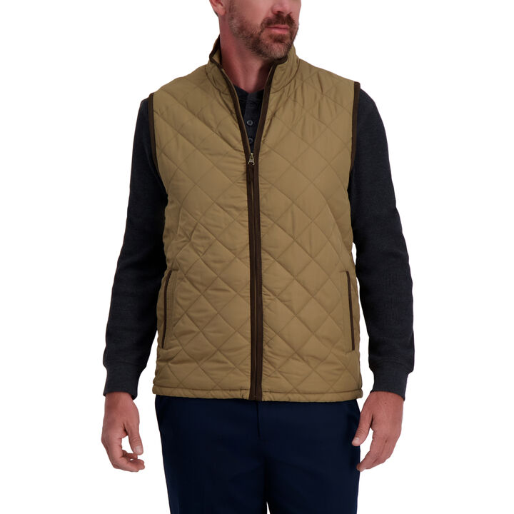 Quilted Vest,  Driftwood