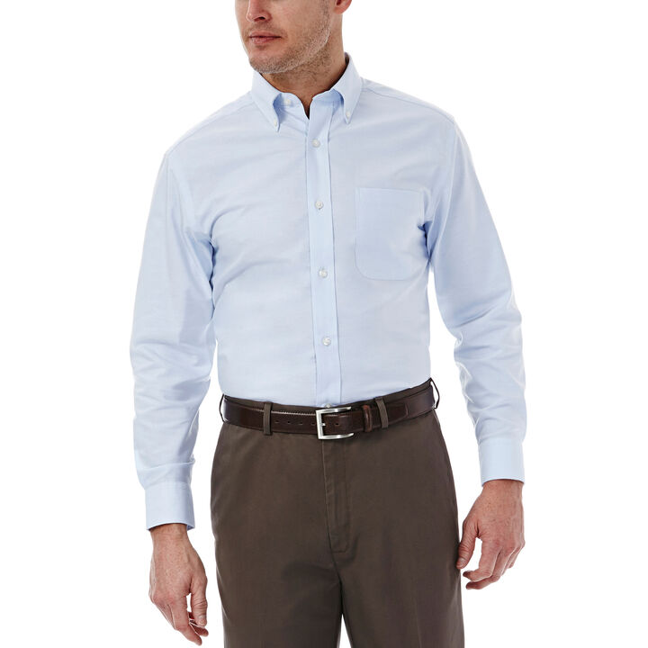 Solid Oxford Dress Shirt, Light Blue
