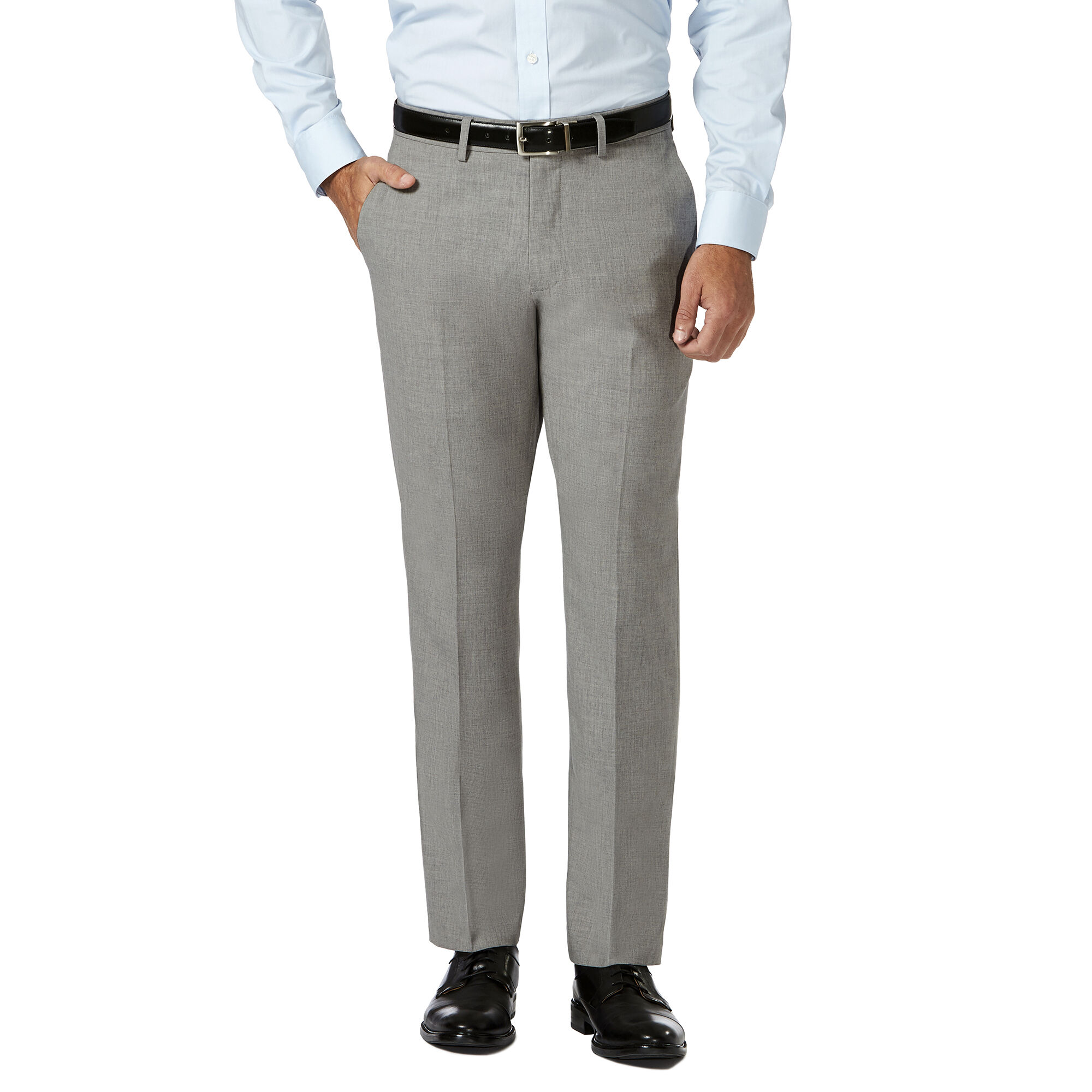1ed7581e60817 J.M. Haggar 4 Way Stretch Dress Pant, Light Grey