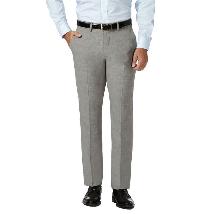 J.M. Haggar 4 Way Stretch Dress Pant, Light Grey