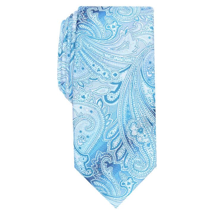 Peeler Paisley Tie, Light Blue