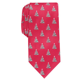 Christmas Trees Tie, Red