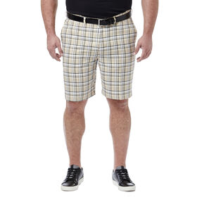 Big & Tall Cool 18® Pro Simple Plaid Short, Stone