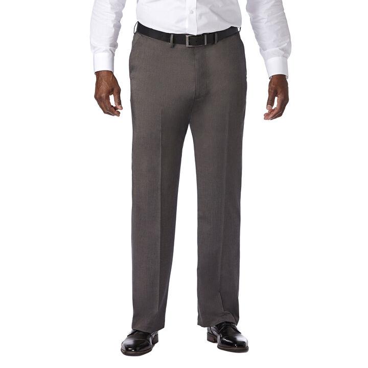 Big & Tall Premium Stretch Solid Dress Pant, Black / Charcoal