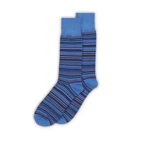 Thin Striped Sock, Light Blue