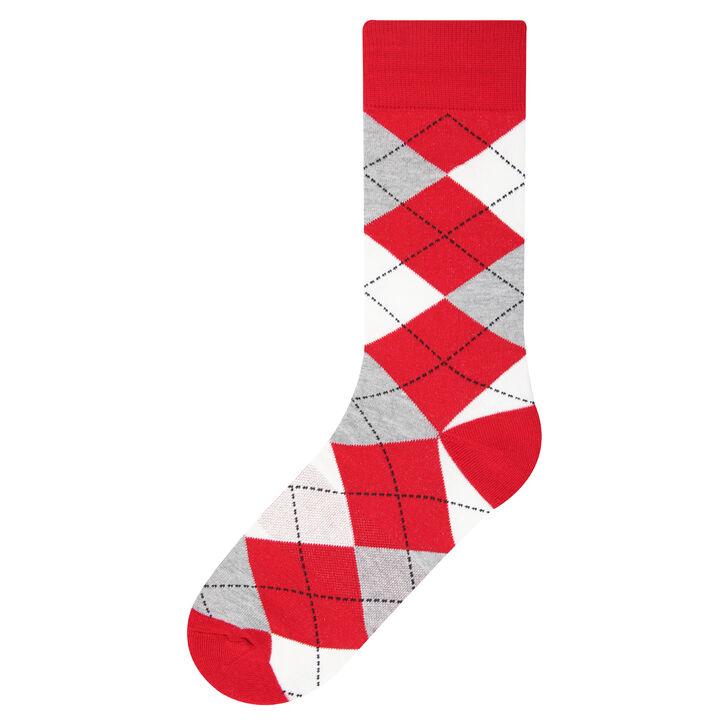 Argyle Socks, Red