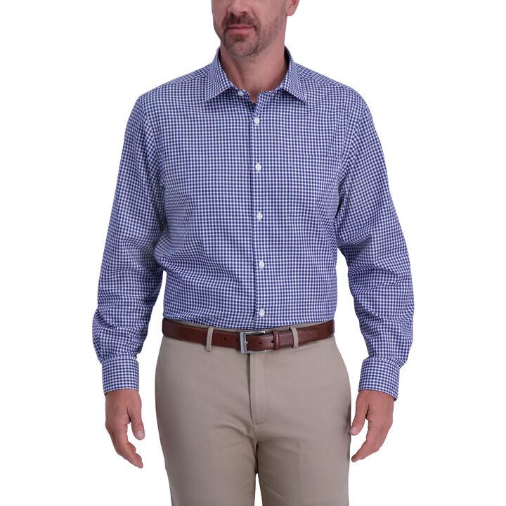 Plaid Premium Comfort Dress Shirt,  Navy