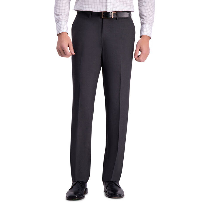 J.M. Haggar 4-Way Stretch Dress Pant, Charcoal Heather open image in new window