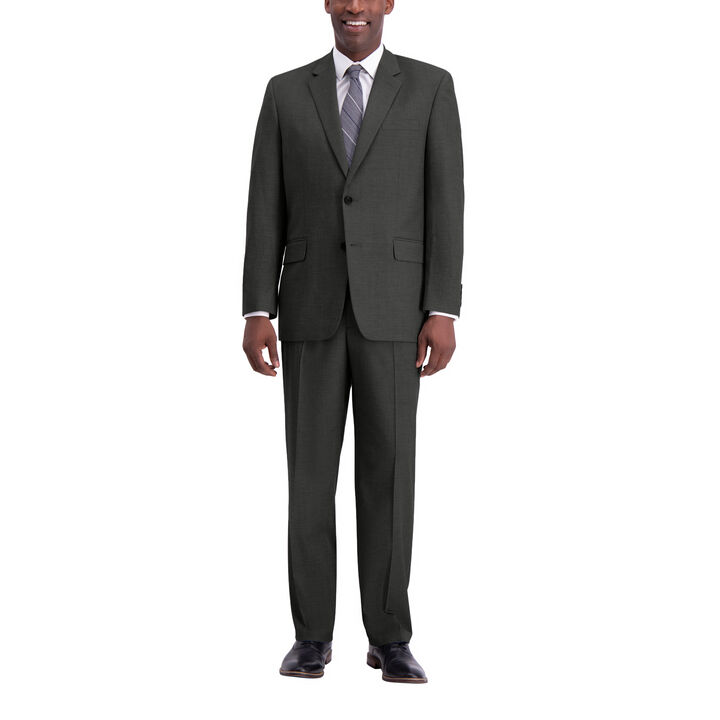 J.M. Haggar Texture Weave Suit Jacket, Medium Grey, hi-res