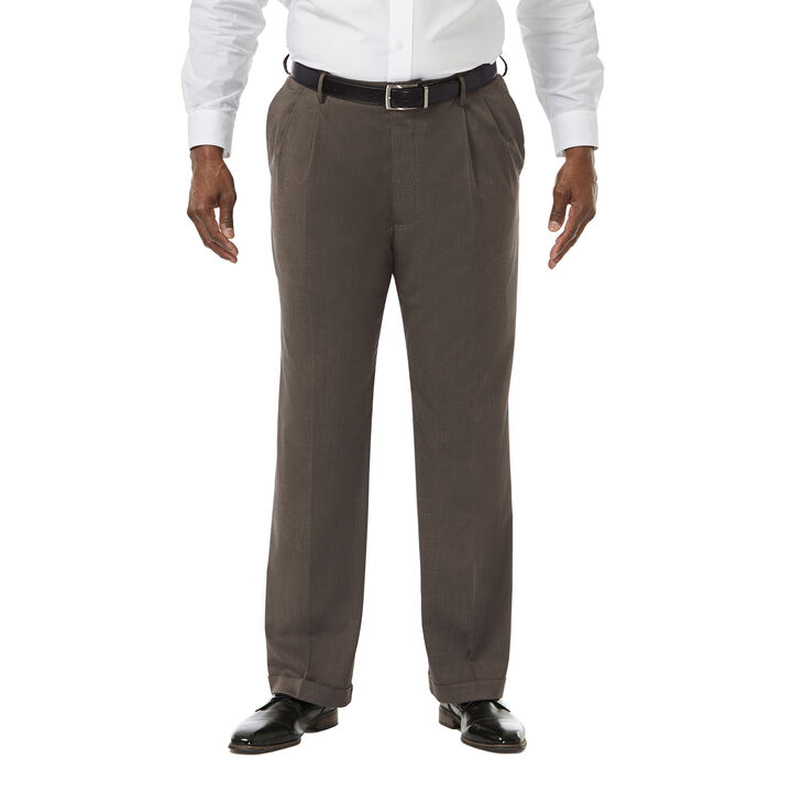 Big & Tall Premium Stretch Dress Pant, Medium Brown