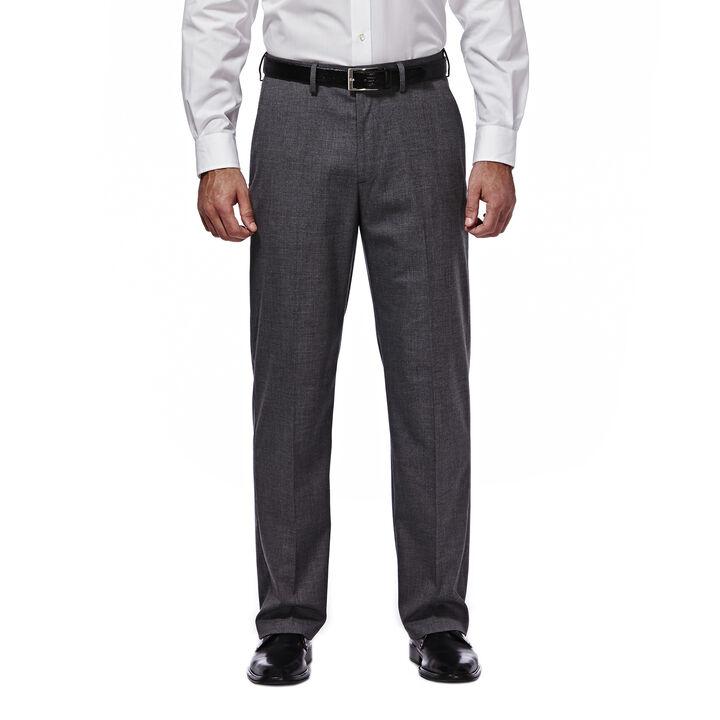 J.M. Haggar Premium Stretch Suit Pant - Flat Front, Dark Heather Grey