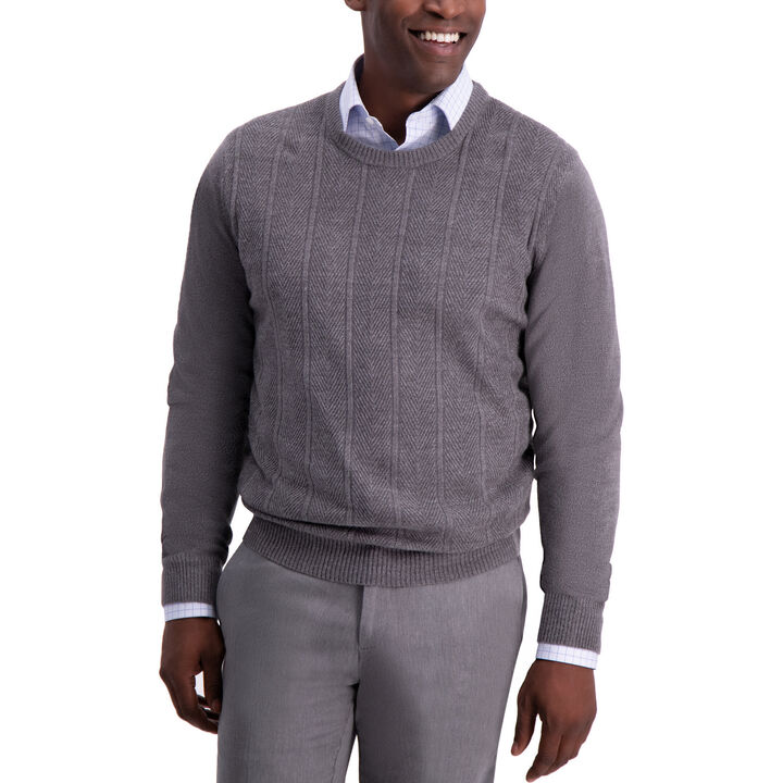 Herringbone Sweater, Stone