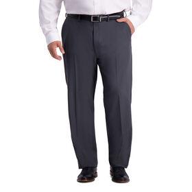 Big & Tall Travel Performance Stria Tic Weave Suit Pant, Dark Heather Grey