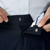 J.M. Haggar Dress Pant - Sharkskin, Dark Navy view# 4