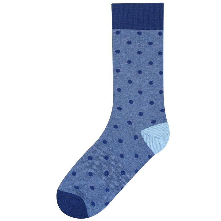 Blue Dot Sock, Blue