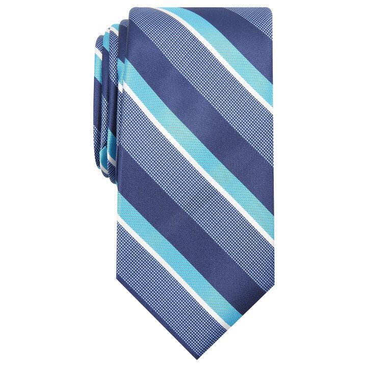 Wide Stripe Tie, Red