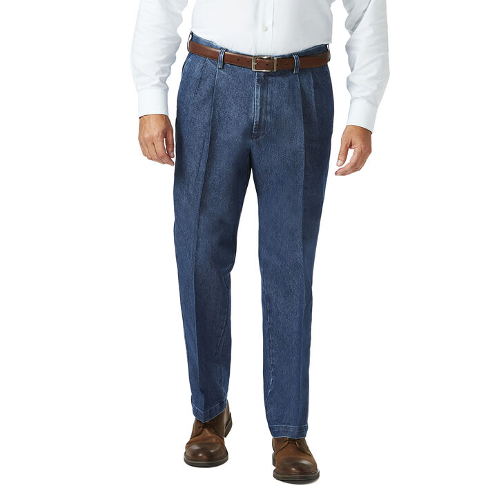 Big & Tall Stretch Denim Trouser, Medium Blue