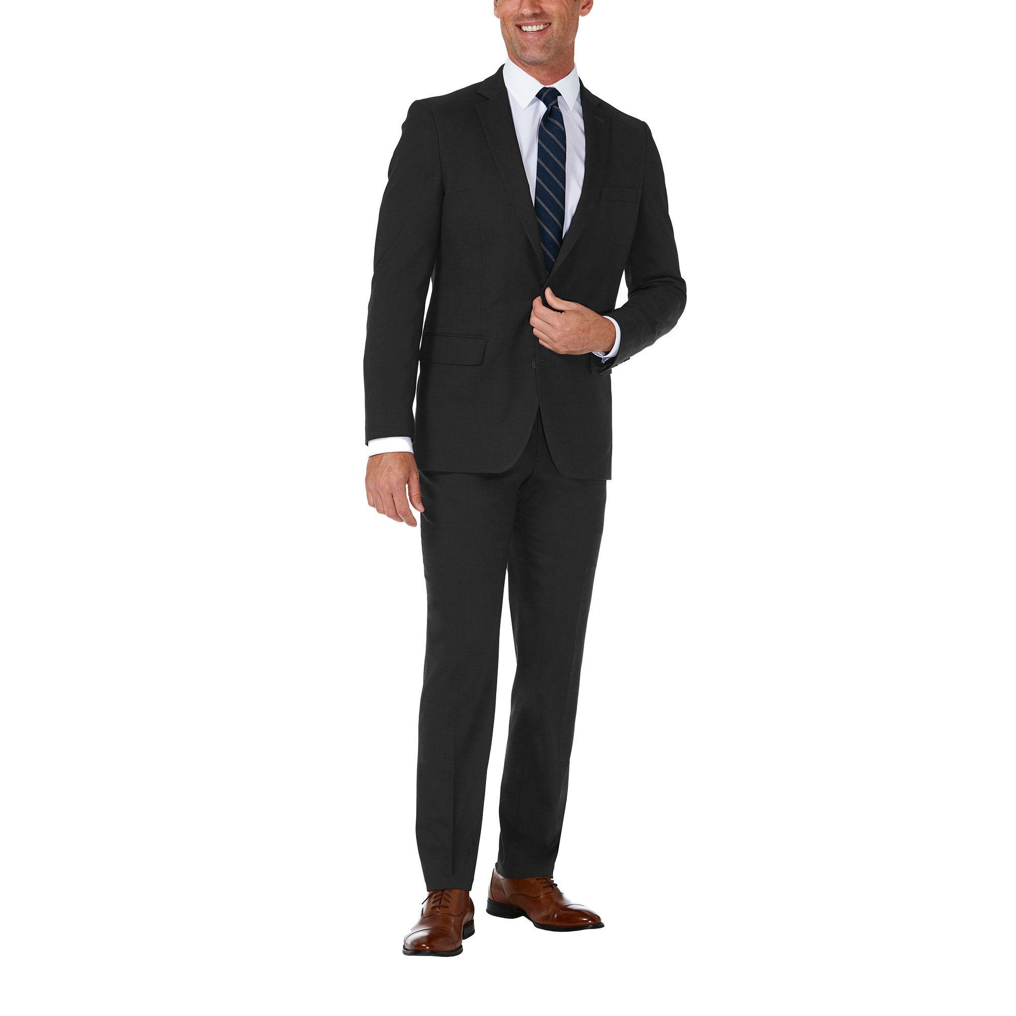 60b19c55 J.M. Haggar Premium Stretch Suit Jacket, Black, hi-res