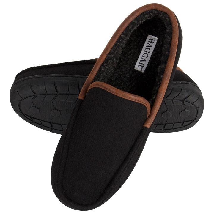 Felt Venetian Slippers, Black open image in new window