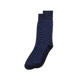 Dash Overplaid Sock, Navy