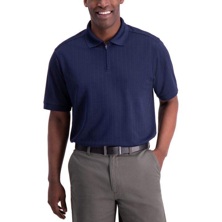Waffle Golf Polo, Navy