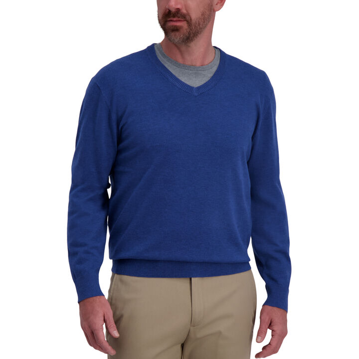 Basic V-Neck Sweater, Navy