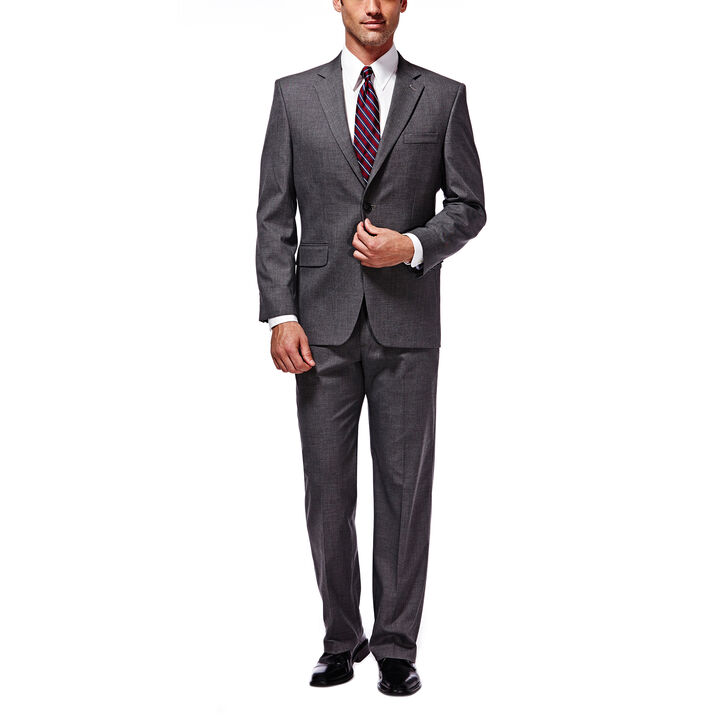 J.M. Haggar Premium Stretch Suit Jacket, Medium Grey, hi-res