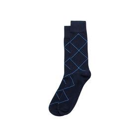 Minimalitistic Overplaid Sock, Navy