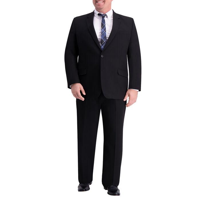 Big & Tall J.M. Haggar 4-Way Stretch Suit Jacket, Black, hi-res