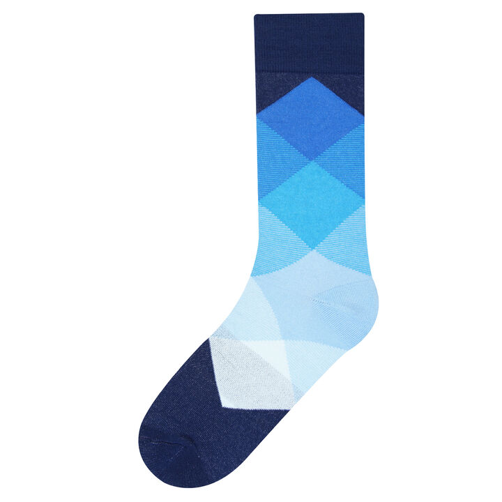 Bright Blue Argyle Sock, Blue