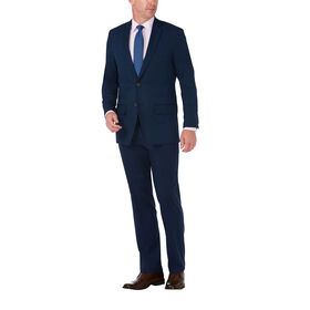 J.M. Haggar Premium Stretch Shadow Check Suit Jacket, Blue