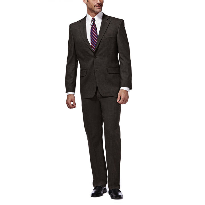 J.M. Haggar Premium Stretch Suit Jacket, Chocolate, hi-res